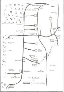 Plan der Gehöfte in Carlsdorf bei Borntin
