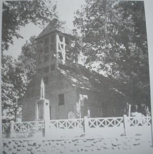 Das Fachwerk im alten Glockenturm gut zu erkennen, 1976