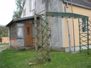 Anbau am letzten Haus auf Carlshöh