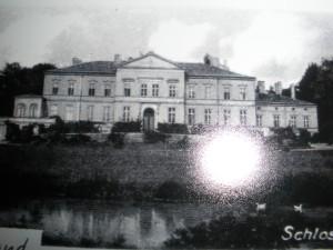 Alte Ansichtskarte Naseband, hier das Schloss