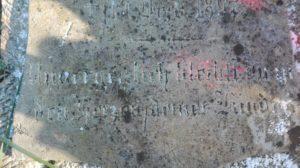 Inschrift des Grabsteines